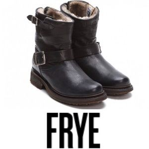 Frye Valerie Motorcycle Lamb Shearling Lined boots